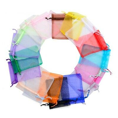 50/100 Mix Organza Gift Bags Wedding Party Favour Jewellery Packing Pouches Bag