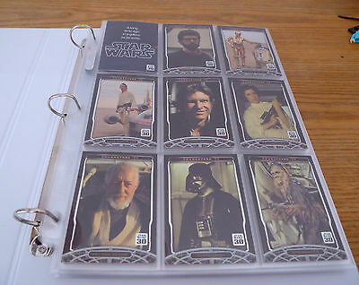Star Wars Cards,Complete Set,30 Year Anniversary 120 Cards in Pages and Folder.
