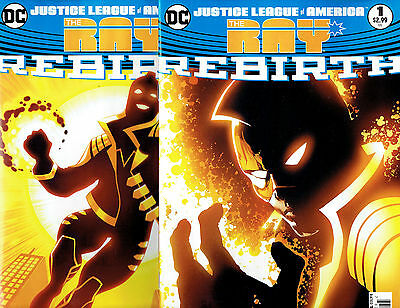 Dc Universe Rebirth Justice League Of America The Ray #1 Reg & Variant New 2017!