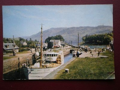 Postcard Inverness-Shire The Caledonian Canal At Fort Augustus