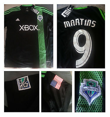 Maglia Jersey Shirt SEATTLE SOUNDERS 9 MARTINS size XL slim ORIGINALE IN ITALIA!