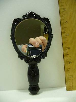 """Anna Sui Hand/Purse Mirror Rose On Front 6"""" Long"""