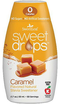 Sweet Drops Liquid Stevia, SweetLeaf, 1.7 oz Caramel 1 pack