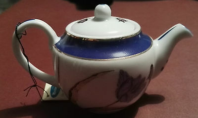 Miniature Teapot. 2/3 Inches High. Part Of The P.A. Miniature Teapot Collection
