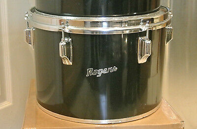 """EXPAND YOUR DRUM SET TODAY! VINTAGE 1970s Rogers USA 13"""" BLACK CONCERT TOM #M675"""