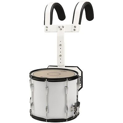 Sound Percussion Labs Marching Snare Drum with Carrier 13 x 11 in. White LN