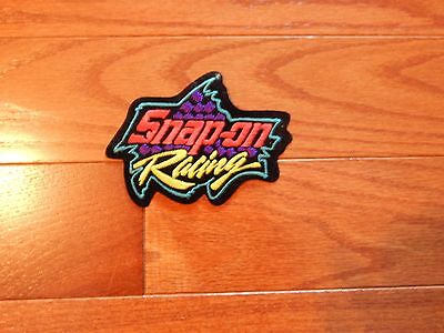 Snap On Racing Iron On Patch