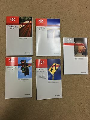 2016 Toyota Corolla Owners Manual Set + Entune Book-Fast Free Shipping!