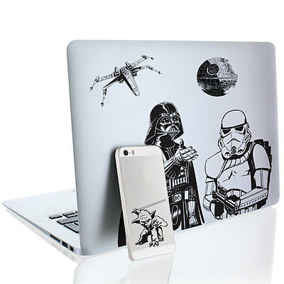 Star Wars Gadget Decals OFFICALLY LICENSED (17 Removable Waterproof Decals)