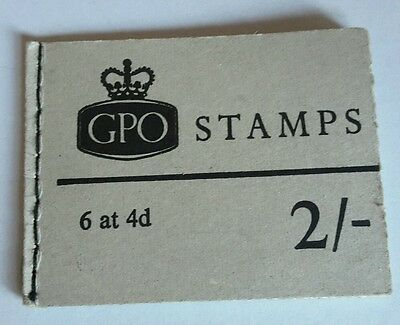 January 1969 GPO 2/- stamp book booklet complete and in very good condition