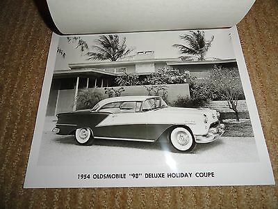 54 Oldsmobile 98 Deluxe Holiday Coupe Press Release Photo W/press Sheet Original