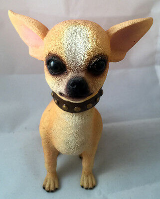 Adorable Chihuahua Puppy Dog Ceramic Bobblehead Nodder Used
