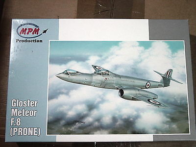 """Gloster Meteor F.8 """"Prone Meteor""""Experimental High-G test Version  MPM 1/72"""