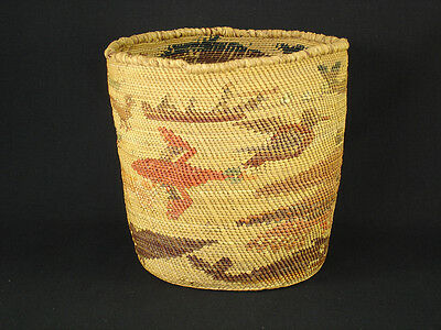 A Makah Pictorial Basket, Native American Indian, Circa: 1910