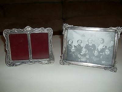 Pair of Pewter Picture Frames various sizes
