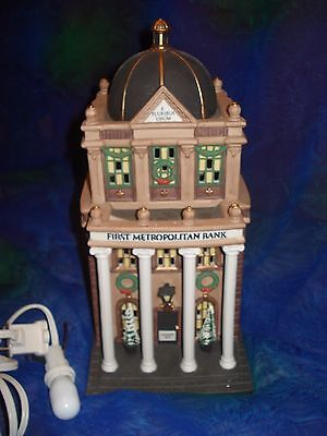 Dept 56, First Metropolitan Bank, The Heritage Village, Christmas in the City