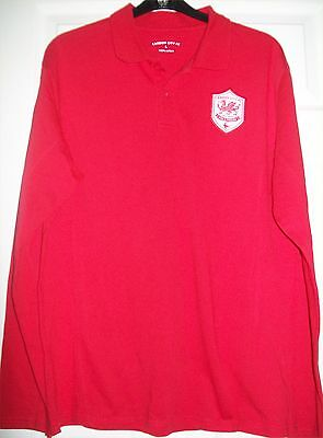 "FOOTBALL CARDIFF CITY RED CASUAL SHIRT by CCFC, UK SIZE L, CHEST 39-41"", COTTON"