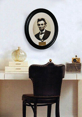 """ABRAHAM LINCOLN Signed in his hand """" UNTIL """" Autograph, Frame, COA, UACC, Plaque"""