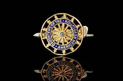 14K Gold Daughter Of The American Revolution Nambered Pin (011617035)