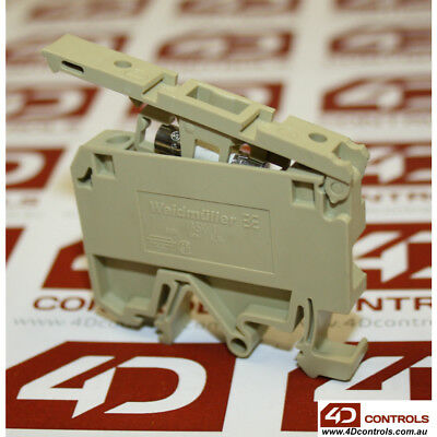 Weidmuller ASK1/EN DIN RAIL MOUNTED FUSED TERMINAL, CREAM, 500V 4mm2 6.3A - Used