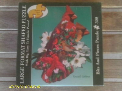 Red Cardinal Bird Shaped Jigsaw Puzzle by Bits & Pieces