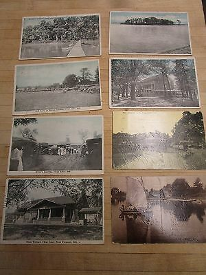 Clear Lake, Indiana - Lot Of  8 Postcards - ca.  1917 1922 Fremont IN