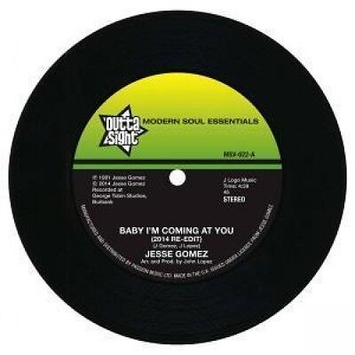"""JESSE GOMEZ Baby I'm Coming At You 7"""" VINYL European Outta Sight B/W Jesse"""