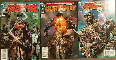 Brightest Day Aftermath: Search for Swamp Thing #1-3 FULL RUN 2011 DC Comics VF+