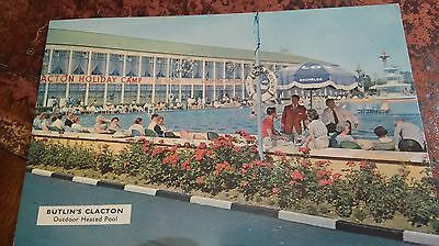 1963 Postcard Outdoor Pool Butlin's Holiday Camp Clacton - Used
