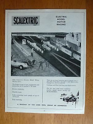"""Scalextric Slot Car Racing Original Vintage Mag Advert 9"""" x 7"""" early 1960's"""