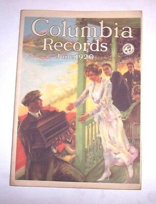 Nice Original Columbia Disc Phonograph Record Catalog - June , 1920