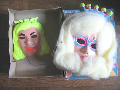 Collegeville Reflecta-Lite Starlight Princes Mask with Hair + 2nd Halloween Mask