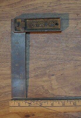 "Old Used Tools,Vintage Stanley No.12, All Steel  6"" Carpenters Square"