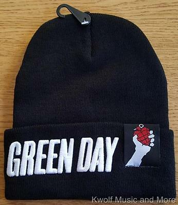 "GREEN DAY Beanie/Knit Hat/Cap  ""Logo Grenade  Official/Licensed OSFM NEW"