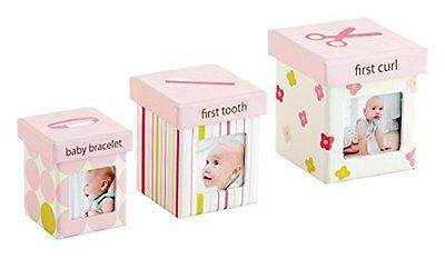 Pearhead Little Keepsake Set boxes Perfect For Baby Pink., New