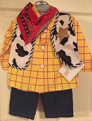 Disney Store Toy Story WOODY Cowboy Child Dress Up Costume sz 12/18 months-NWT!!
