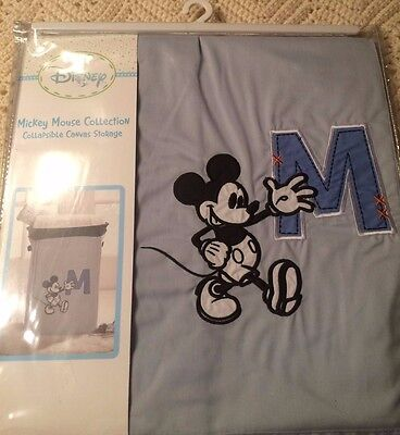 New In Pack~Disney Mickey Mouse Collection Collapsible Canvas Storage
