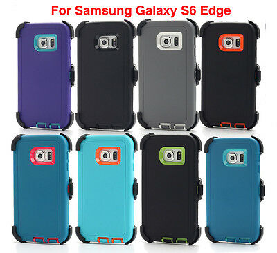 Case w/Screen For Samsung Galaxy S6 Edge [Belt Clip Fits Otterbox Defender]