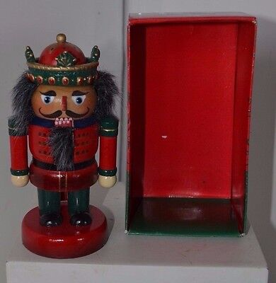 Vintage Small Kurt Adler Wood Soldier Nutcracker In Box No Lid