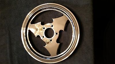 """Three Spoke 70T Tooth Chrome Pulley 1.5"""" Wide Harley Softail Fxst Flst Heritage"""