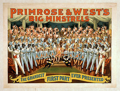 Photo Printed Poster Stage Theatre Turn Of Century Primrose West Big Minstrels 0