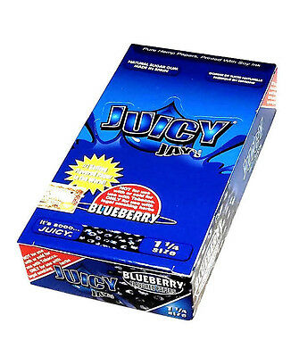 Juicy Jay's Blueberry flavored rolling papers 1 1/4 Size 24 Packs 32 ea BOX USA