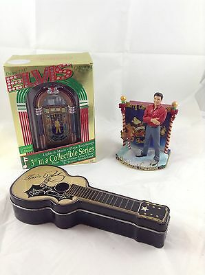 Elvis Christmas Ornaments, Two With Music, 1997 Carlton Cards