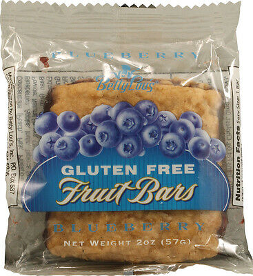 Fruit Bars Gluten Free Blueberry, Betty Lous, 12 bars