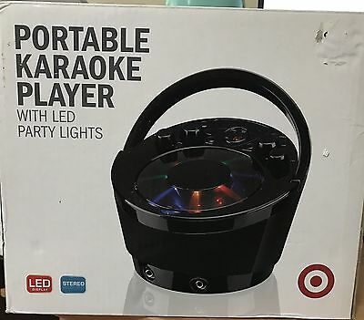 Portable Karaoke Player with LED Party Lights KA1290
