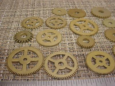 Lot of 20 Assorted Newly Cut Repair Replacement Gears Clockmaker's Estate D550a