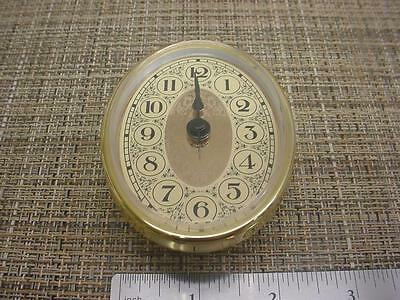 "New 3-1/4"" x 2-1/2""  Oval Quartz Desk or Mantel Clock Replacement Movement E989c"