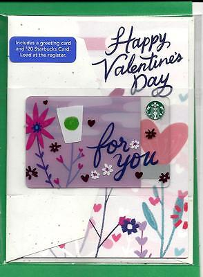 2017  Starbucks Canada Limited Edition Valentine's Greeting Gift Card