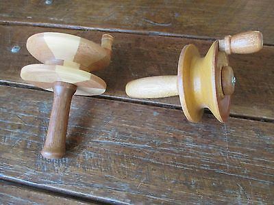 fishing casters all wood made on a woodturning lathe by a craftsman