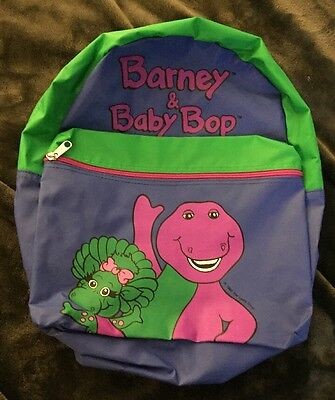 VINTAGE BARNEY & Baby Bop  BACKPACK | An Official Barney Product | 1992